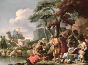 shechem-good-00-sebastien-bourdon-jacob-burying-the-strange-gods-under-the-oak-by-shechem
